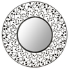 Safavieh 26-in x 26-in Metal Polished Round Framed Venetian Wall Mirror