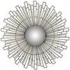 Safavieh 30-in x 30-in Black Polished Round Framed Sunburst Wall Mirror