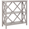 Safavieh American Home Gray 35.6-in 3-Shelf Bookcase