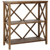 Safavieh American Home Oak 35.6-in 3-Shelf Bookcase