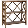 Safavieh American Home Oak 13.4-in W x 35.6-in H x 33.5-in D 3-Shelf Bookcase