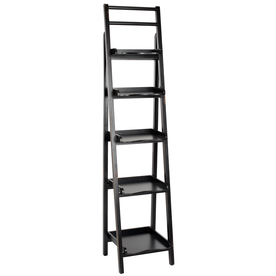 Safavieh American Home Black 71.3-in 5-Shelf Bookcase