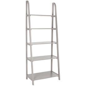 Safavieh American Home Gray 15.9-in W x 72.2-in H x 28-in D 5-Shelf Bookcase
