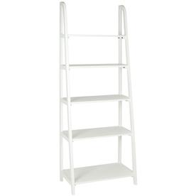 Safavieh American Home White 15.9-in W x 72.2-in H x 28-in D 5-Shelf Bookcase