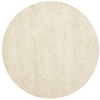 Safavieh California Shag 4-ft x 4-ft Round White Solid Area Rug