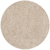 Safavieh California Shag 4-ft x 4-ft Round Beige Solid Area Rug