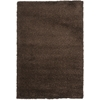 Safavieh Shag Brown Rectangular Indoor Machine-Made Area Rug (Common: 7 x 10; Actual: 79-in W x 114-in L x 0.92-ft Dia)