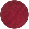 Safavieh California Shag 4-ft x 4-ft Round Red Solid Area Rug