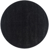Safavieh California Shag 4-ft x 4-ft Round Black Solid Area Rug