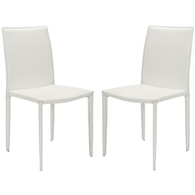 Safavieh Set of 2 Fox White Side Chairs