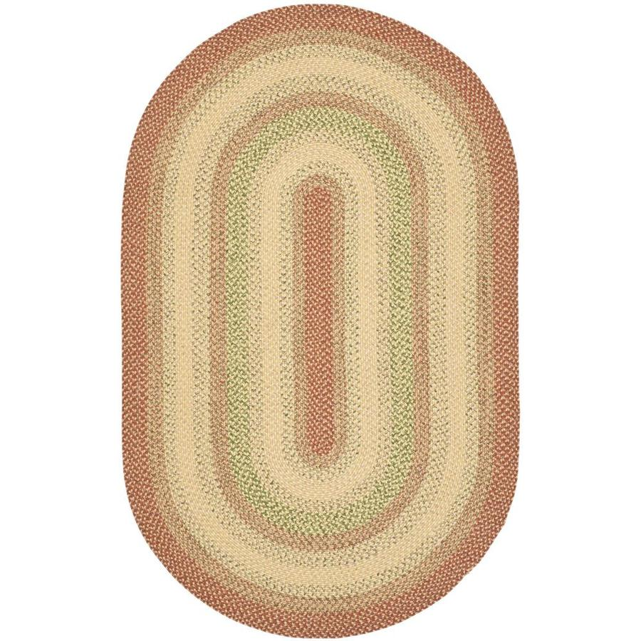 Shop Safavieh Braided Oval Red Transitional Woven Area Rug