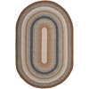 Safavieh Braided 6-ft x 9-ft Oval Brown Transitional Area Rug