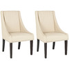 Safavieh Set of 2 Mercer Cream Dining Chairs