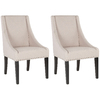 Safavieh Set of 2 Mercer Beige Dining Chairs