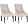 Safavieh Set of 2 Mercer Beige Side Chairs