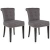 Safavieh Set of 2 Mercer Gray Side Chairs