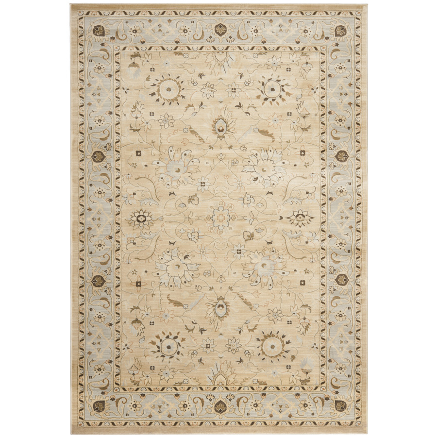 Shop Safavieh Florenteen Rectangular Cream Floral Woven