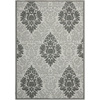 Safavieh Courtyard 96-in x 134-in Rectangular Gray/Silver Transitional Indoor/Outdoor Area Rug