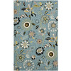 Safavieh Four Seasons 3-ft 6-in x 5-ft 6-in Rectangular Blue Floral Indoor/Outdoor Area Rug