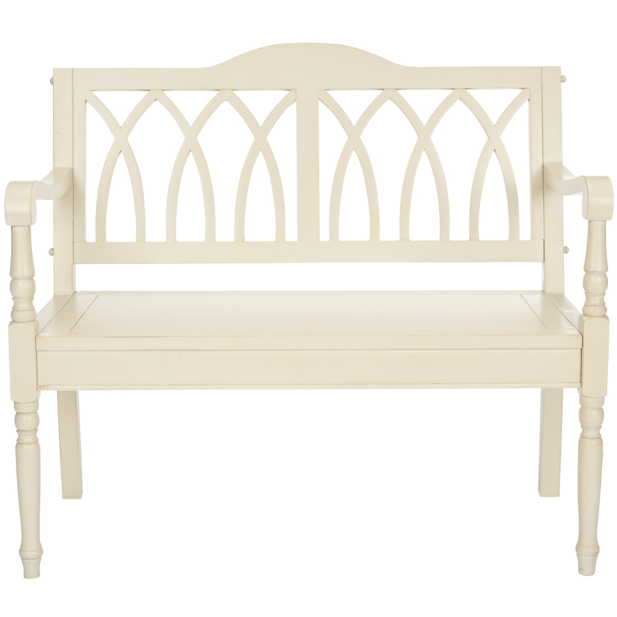 Shop Safavieh American Home Distressed White Indoor Entryway Bench At