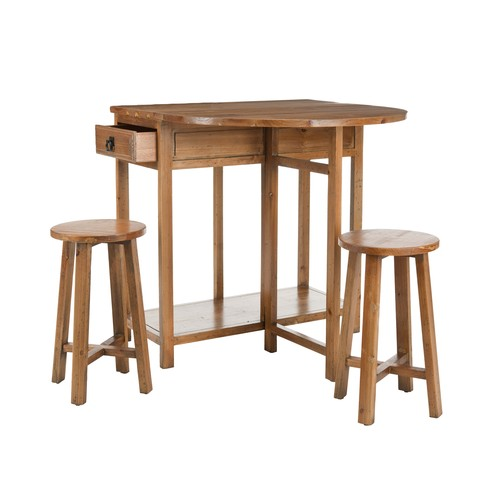 Safavieh Fir Wood American Home Bar Table Amp Stools From