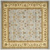 Safavieh Lyndhurst Light Blue and Ivory Square Indoor Machine-Made Area Rug (Common: 4 x 4; Actual: 48-in W x 48-in L x 0.33-ft Dia)