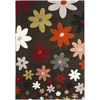 Safavieh Porcello 4-ft x 5-ft 7-in Rectangular Tan Floral Area Rug