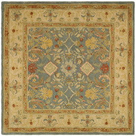 Safavieh Anatolia Light Blue and Ivory Square Indoor Tufted Area Rug (Common: 6 x 6; Actual: 72-in W x 72-in L x 0.5-ft Dia)