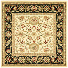 Safavieh Lyndhurst Ivory and Black Square Indoor Machine-Made Area Rug (Common: 8 x 8; Actual: 96-in W x 96-in L x 0.5-ft Dia)