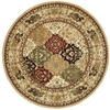 Safavieh 8-ft Round Multi-Diamond Panel Area Rug