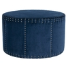 Safavieh Mercer Navy Round Ottoman