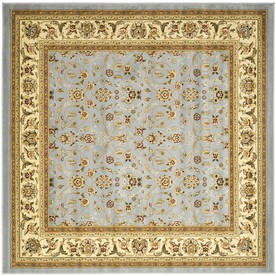 Safavieh Lyndhurst Light Blue and Ivory Square Indoor Machine-Made Area Rug (Common: 8 x 8; Actual: 96-in W x 96-in L x 0.5-ft Dia)