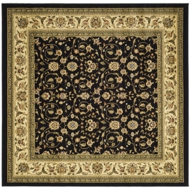 Safavieh Lyndhurst Black and Ivory Square Indoor Machine-Made Area Rug (Common: 6 x 6; Actual: 72-in W x 72-in L x 0.33-ft Dia)