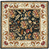 Safavieh Chelsea 6-ft x 6-ft Square Black Transitional Area Rug