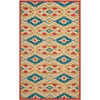 Safavieh Four Seasons 5-ft x 8-ft Rectangular Beige Geometric Indoor/Outdoor Area Rug