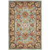 Safavieh Heritage 27-in x 48-in Rectangular Blue Floral Accent Rug