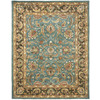 Safavieh Heritage Blue and Brown Rectangular Indoor Tufted Area Rug (Common: 6 x 9; Actual: 72-in W x 108-in L x 0.67-ft Dia)