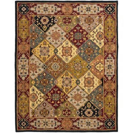 Safavieh Heritage Multicolor and Red Rectangular Indoor Tufted Area Rug (Common: 5 x 8; Actual: 60-in W x 96-in L x 0.58-ft Dia)