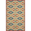 Safavieh Four Seasons 8-ft x 10-ft Rectangular Beige Geometric Indoor/Outdoor  Area Rug