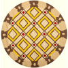 Safavieh Four Seasons 4-ft x 4-ft Round Beige Geometric Indoor/Outdoor Area Rug