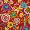 Safavieh Four Seasons 6-ft x 6-ft Square Red Floral Indoor/Outdoor Area Rug