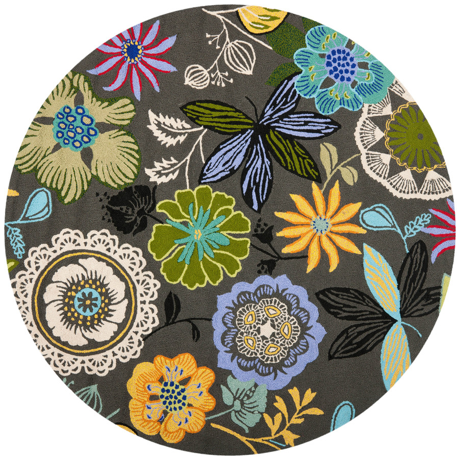 28 round floral rugs shop home dynamix lisbon round green f