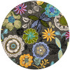 Safavieh Four Seasons 4-ft x 4-ft Round Gray Floral Indoor/Outdoor Area Rug