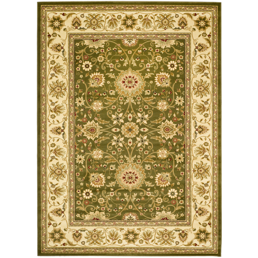 Shop Safavieh Lyndhurst Rectangular Green Heat Set Area