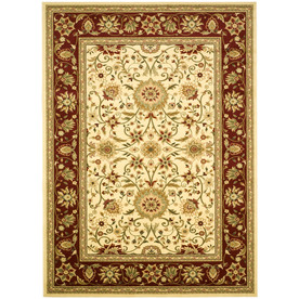 Safavieh Lyndhurst Ivory and Red Rectangular Indoor Machine-Made Area Rug (Common: 9 x 12; Actual: 107-in W x 144-in L x 0.67-ft Dia)