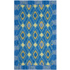 Safavieh Four Seasons 5-ft x 8-ft Rectangular Blue Geometric Indoor/Outdoor Area Rug