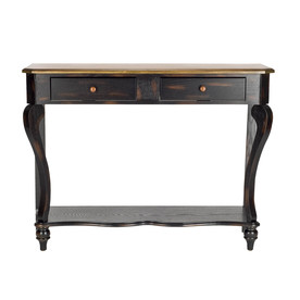 Safavieh American Home Tiger Dark Brown Birch Rectangular Console and Sofa Table