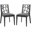 Safavieh Set of 2 Mercer Gray Dining Chairs