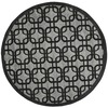 Safavieh York 6-ft 7-in x 6-ft 7-in Round Gray Geometric Area Rug