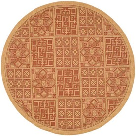 Shop Safavieh 6 Ft X 6 Ft Round Brick Area Rug At